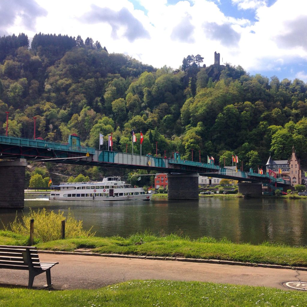 The bridge that joins Traben to Trarbach. Photo by Gloria J. Chang.