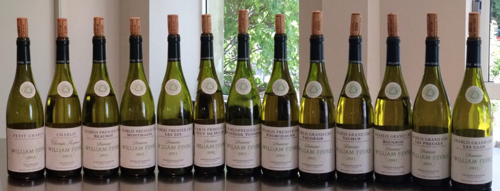 Uncovering terroir in Chablis, France with a tasting of Chablis wines by Domaine William Fèvre Chablis. Photo by Gloria J. Chang.