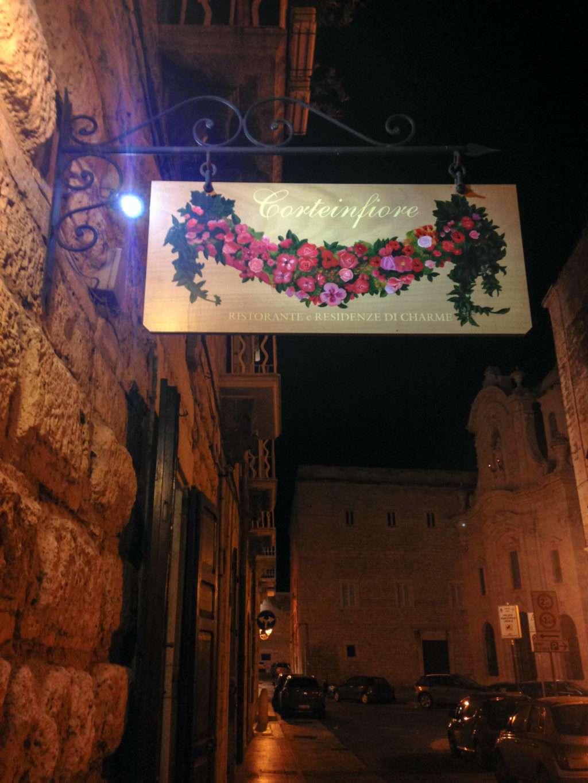 Corteinfiore Ristorante in Trani, Puglia, Italy. Photo by Gloria J. Chang.